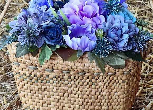 Purple, Teal & Grey Floral Bag