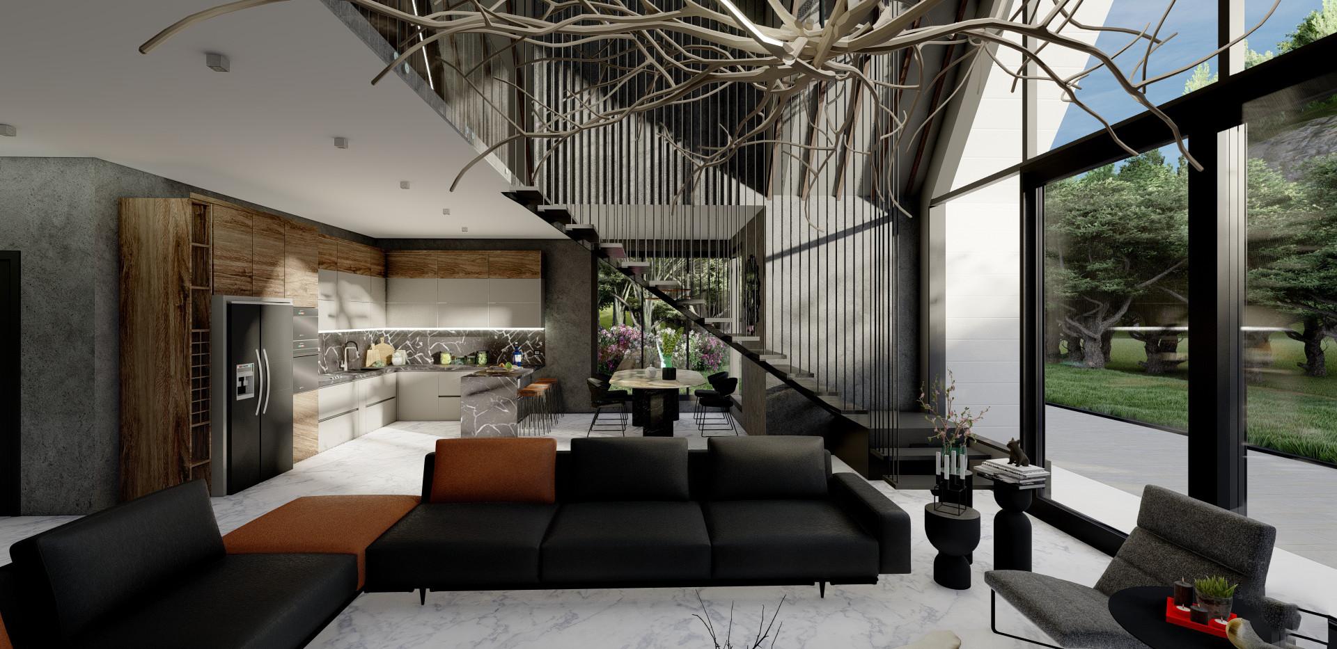 Contemporary Living Room - Dutch House