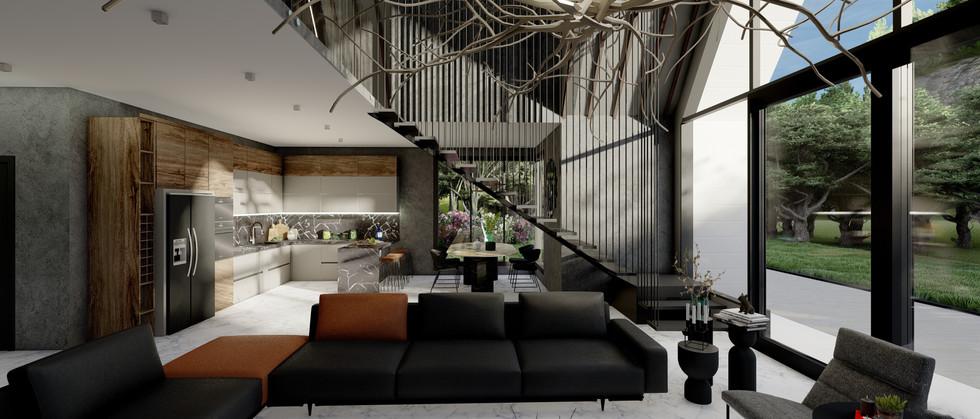 Çağdaş Oturma Odası - Dutch House