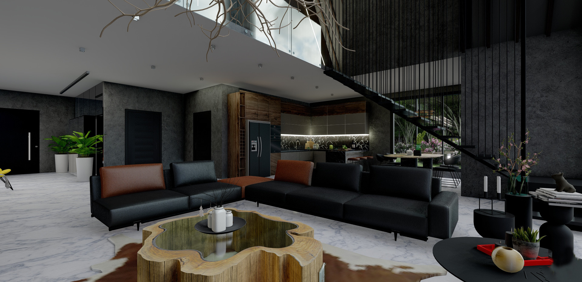 Open Living Room - House Project Amsterdam