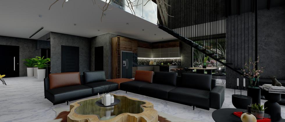 Açık Oturma Odası - Ev Projesi Amsterdam