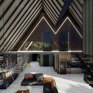 Mezzanine Floor View - Amsterdam House Project