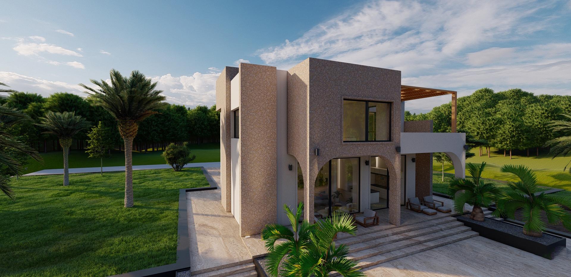 Daytime Villa Exterior - Ibiza, Spain