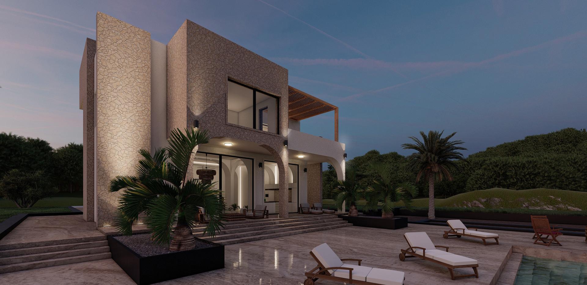 Villa Sunset Exterior - Project Ibiza, Spain