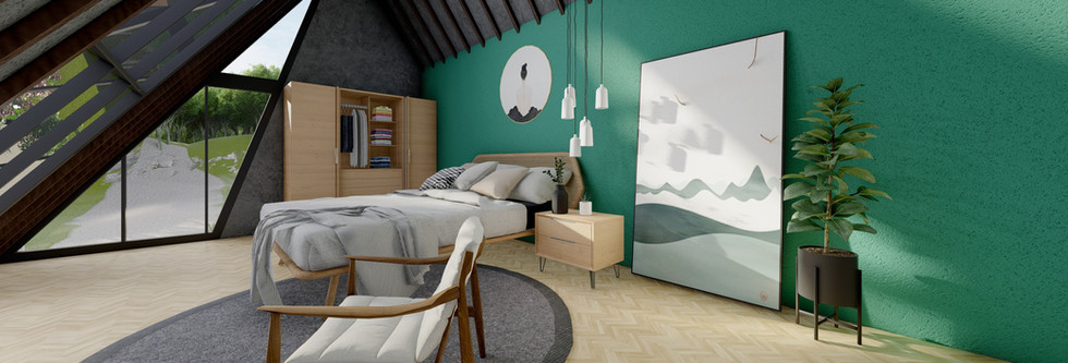 Dutch Style House - Glass Ceiling Bedroom