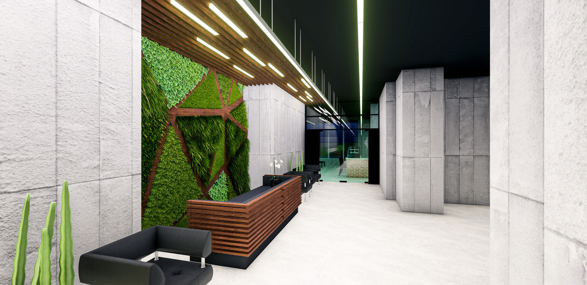 The Desk - Green Wall