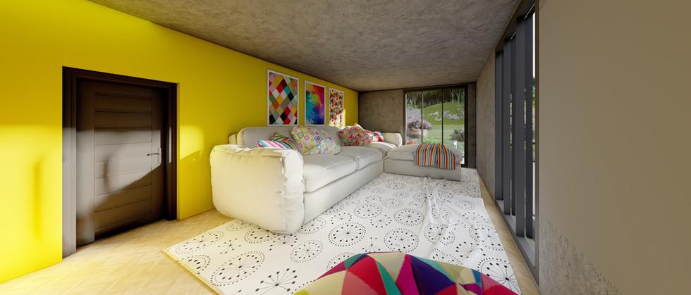 Dinlenme Odası - Amsterdam Ev Projesi