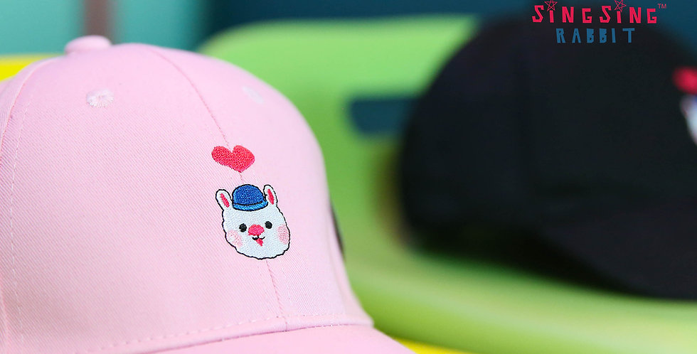 Sing Sing Rabbit Heart Shape Cap (Pink)