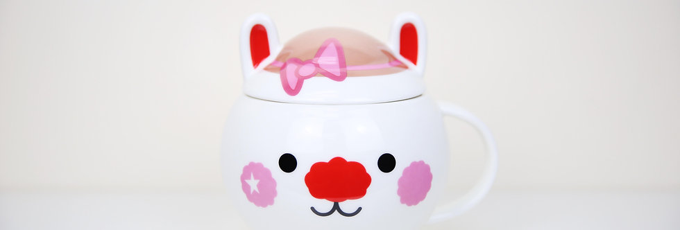 Pink Ribbon Mug / Blue Hat Mug