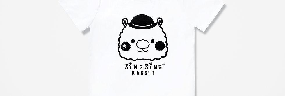 Sing Sing Rabbit BIG HEAD LOGO Tee (White)