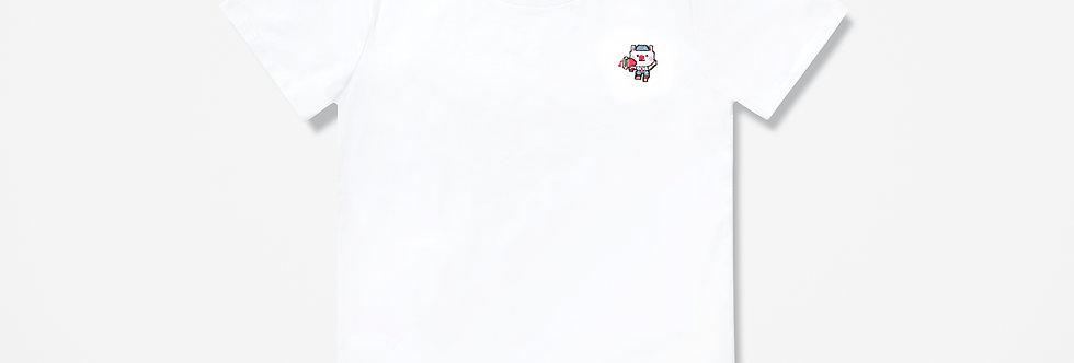 Sing Sing Rabbit Speaker embroidery tee (White)