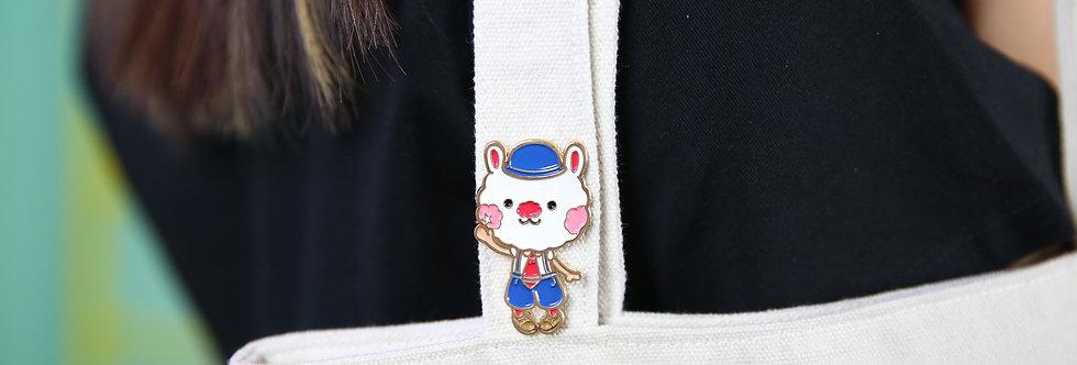 Sing Sing Rabbit cute metal pin
