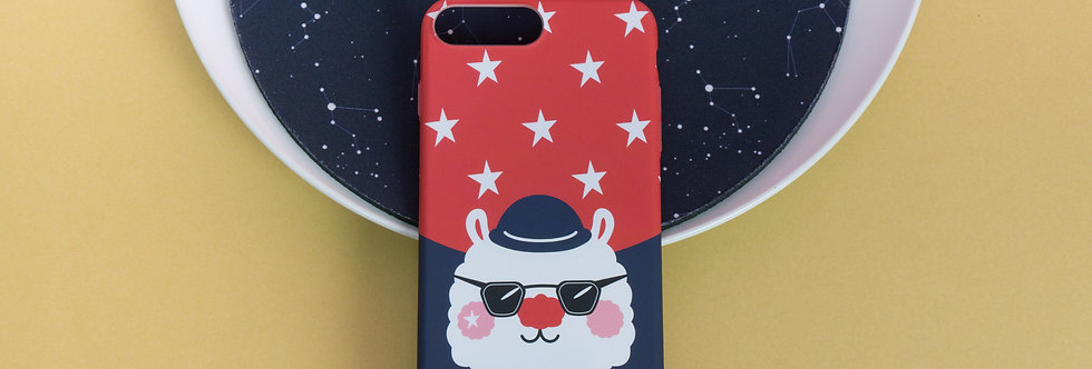 Sing Sing Rabbit type sunglasses image iPhone Case