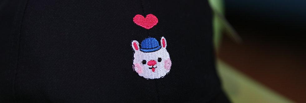 Sing Sing Rabbit Heart Shape Cap (Black)