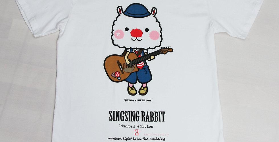 Sing Sing Rabbit 3rd Anniversary Tee ( White Body)