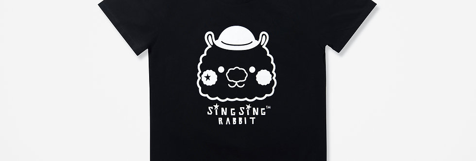 Sing Sing Rabbit BIG HEAD LOGO Tee (Black)