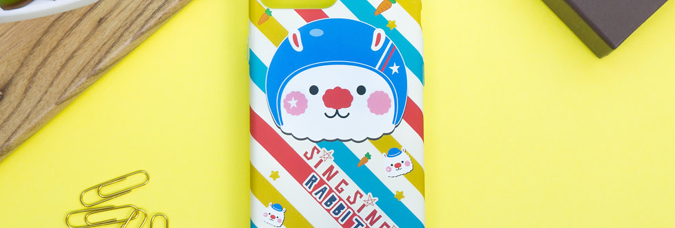 Sing Sing Rabbit Cute Helmet iPhone Case