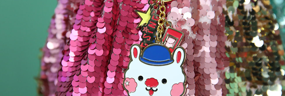 Sing Sing Rabbit cute metal keychain