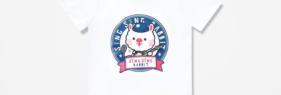 Sing Sing Rabbit COLOR HEAD LOGO Tee (White)