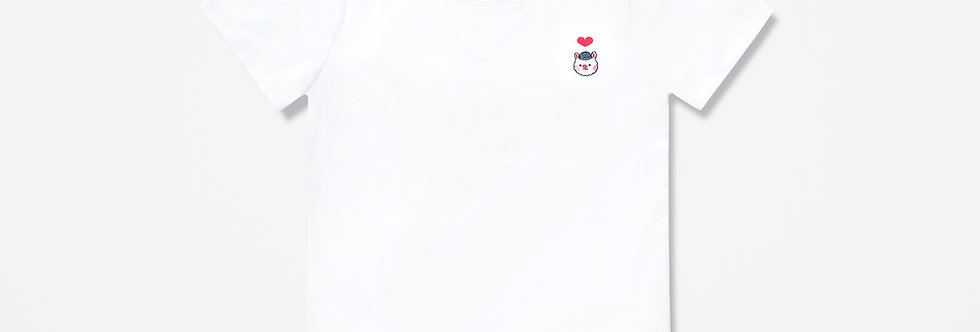 Sing Sing Rabbit Heart embroidery tee
