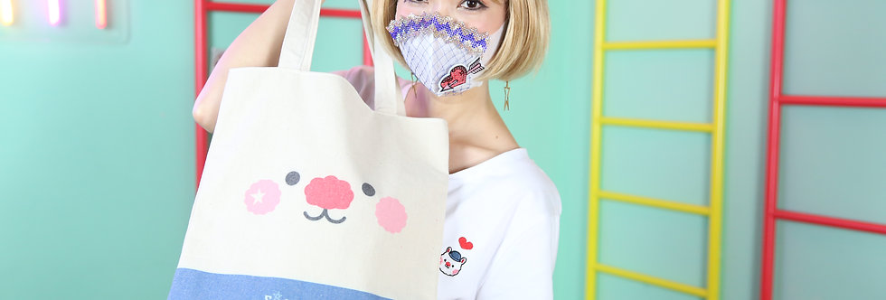 Sing Sing Rabbit lovely 3D small feet tote bag