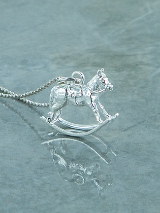 Rocking silver horse