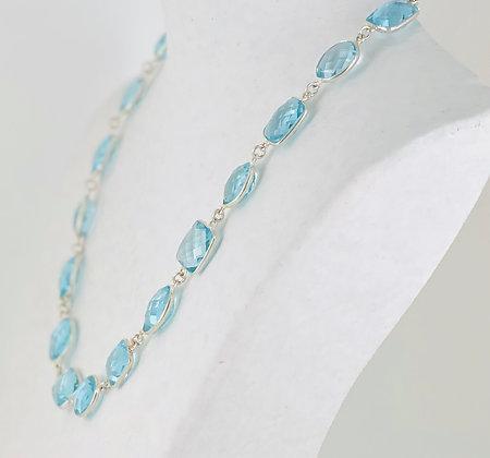 Sterling silver blue topaz necklace