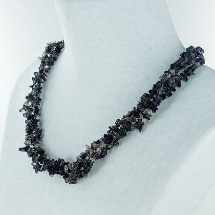 Smoky quartz 3 strand necklace