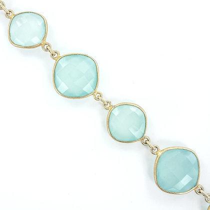 Aqua gold bracelet