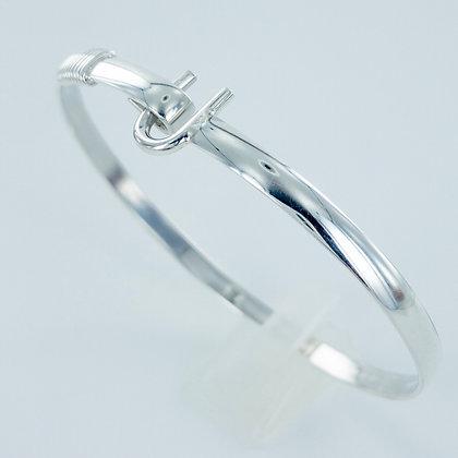 Sterling silver U bracelet