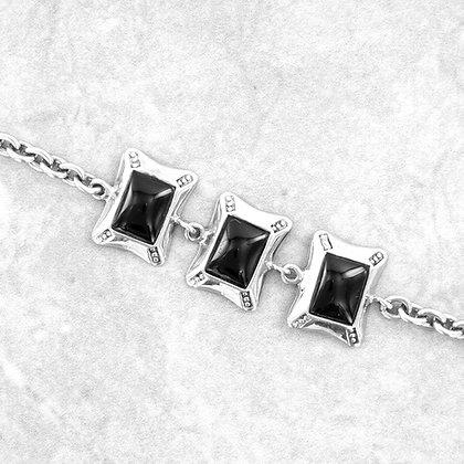 Onyx bracelet in sterling silver