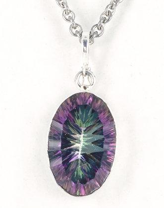 Mystic Topaz silver pendant