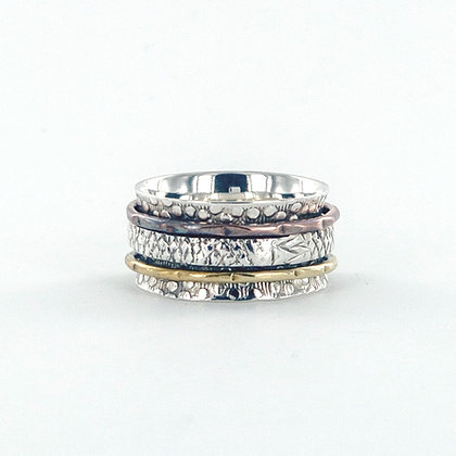 Silver gold copper ring