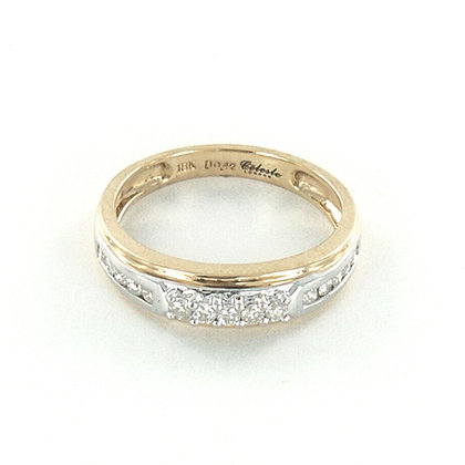 18ct yellow and white gold diamond ring