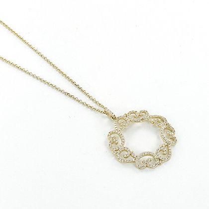 Gold cz pendant