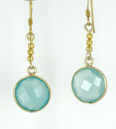 Amazonite gold earrings