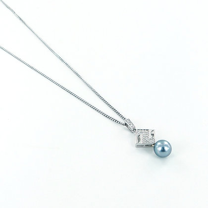 Tahitian pearl white gold necklace