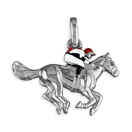 Flatracing silver pendant