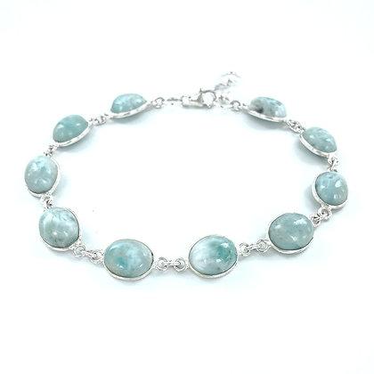 Amazonite sterling silver bracelet
