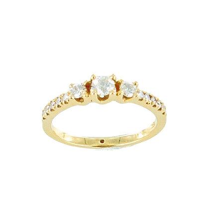 18ct yellow gold 3 diamond eternity diamond ring