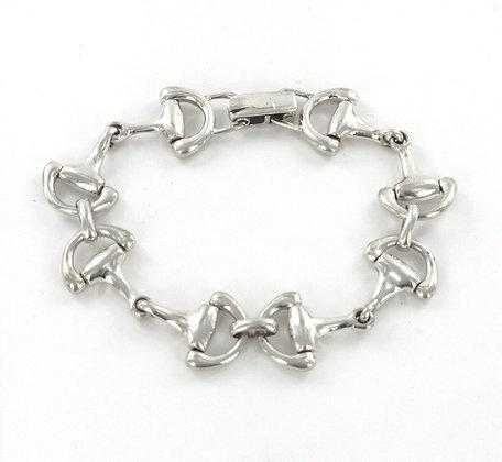 Snaffle silver bracelet