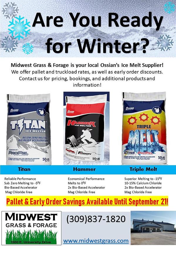 2018 Ice Melt products