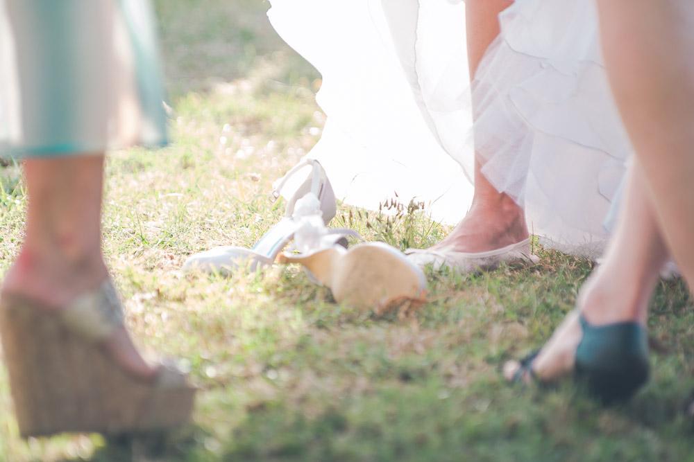 Chaussures abandonnées