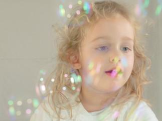Dans les bulles de savon