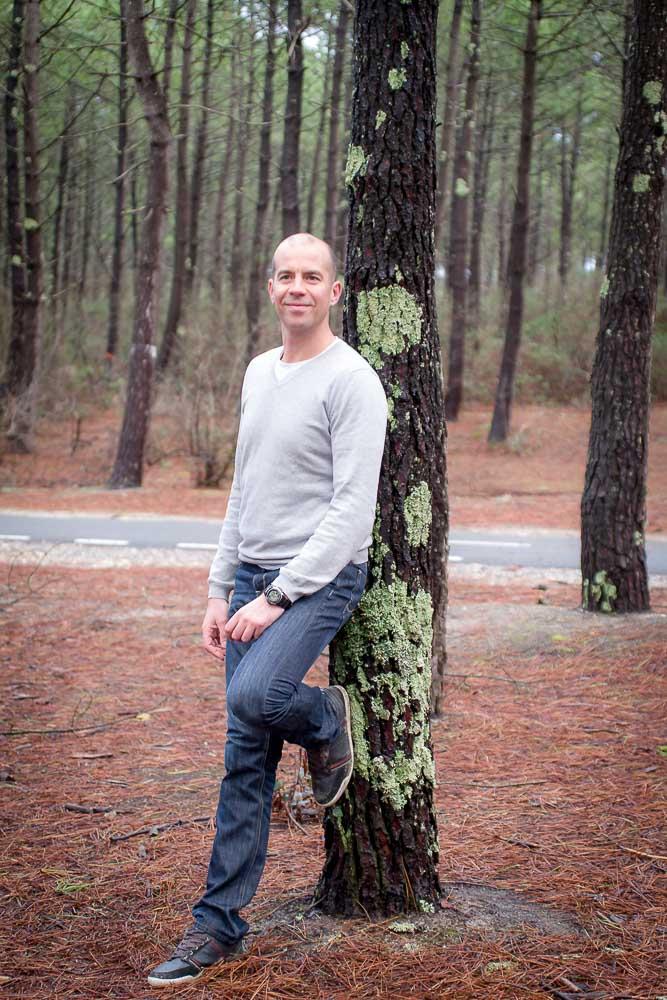Steve en forêt