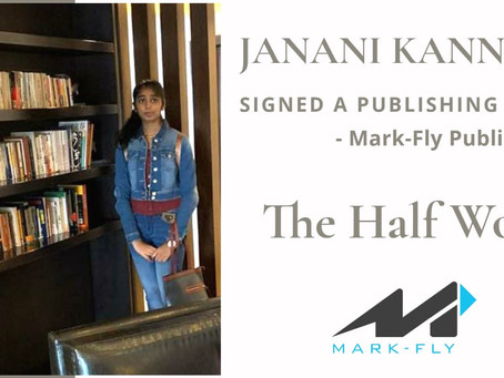 Janani Kannan, a 16 Y/O from Coimbatore Bags a Publishing Deal from Mark-Fly Publishers