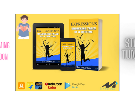 Cover & Title Reveal of 'Expressions' by Uma Sarangan,      Mark-Fly Publishers