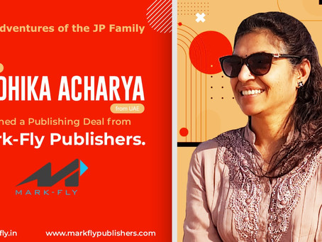 Radhika Acharya from UAE, Signs a Publishing Deal for her Book from Mark-Fly Publishers
