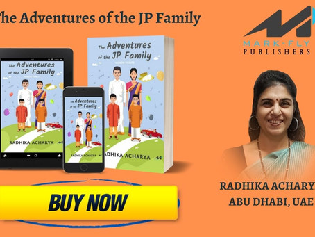 """Radhika Acharya from Abu Dhabi, launched her Humourous Book, """"The Adventures of the JP Family"""""""