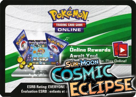 Cosmic Eclipse Booster Pack (Pokemon TCGO Unused Code Card)